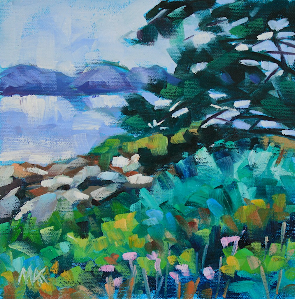 """""""Across The Bay"""" original fine art by Mary Anne Cary"""