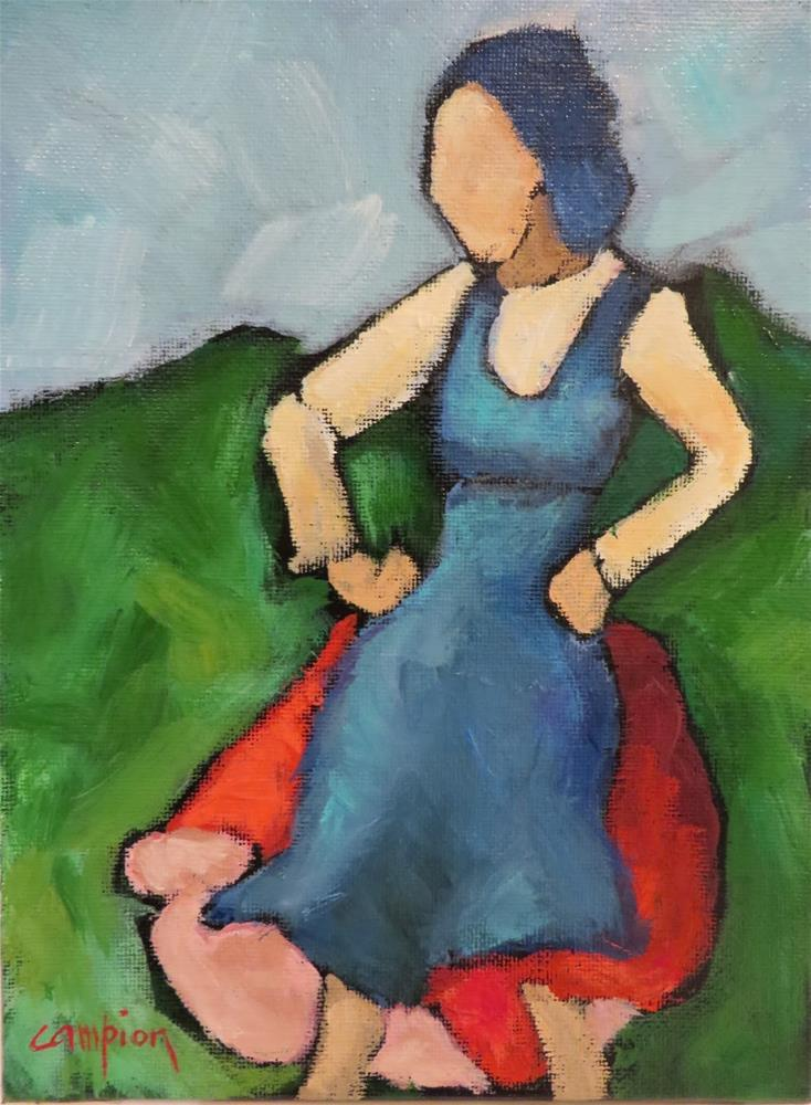 """706 Aunt Mamie Takes a Break"" original fine art by Diane Campion"