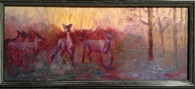 """Alert at Daybreak"" original fine art by Claudia L Brookes"