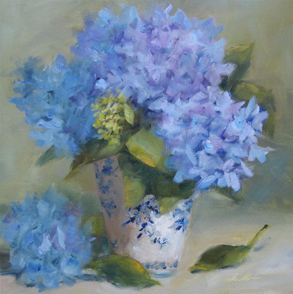 """Blue & White & Blue"" original fine art by Pat Fiorello"