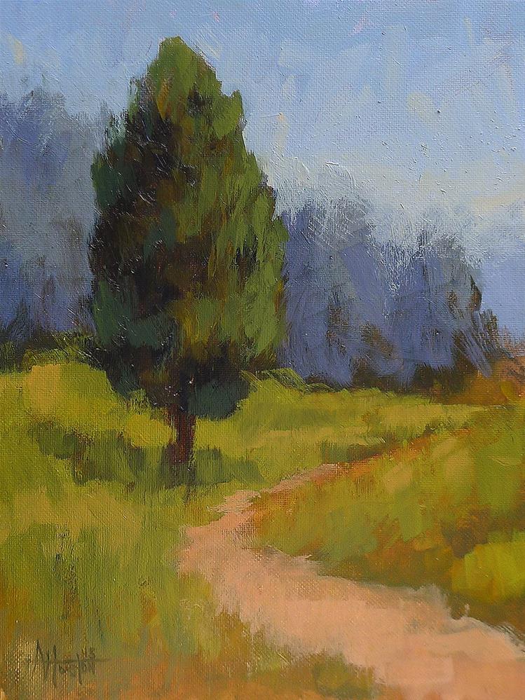 """Lookout Mountain Cedar"" original fine art by Adam Houston"