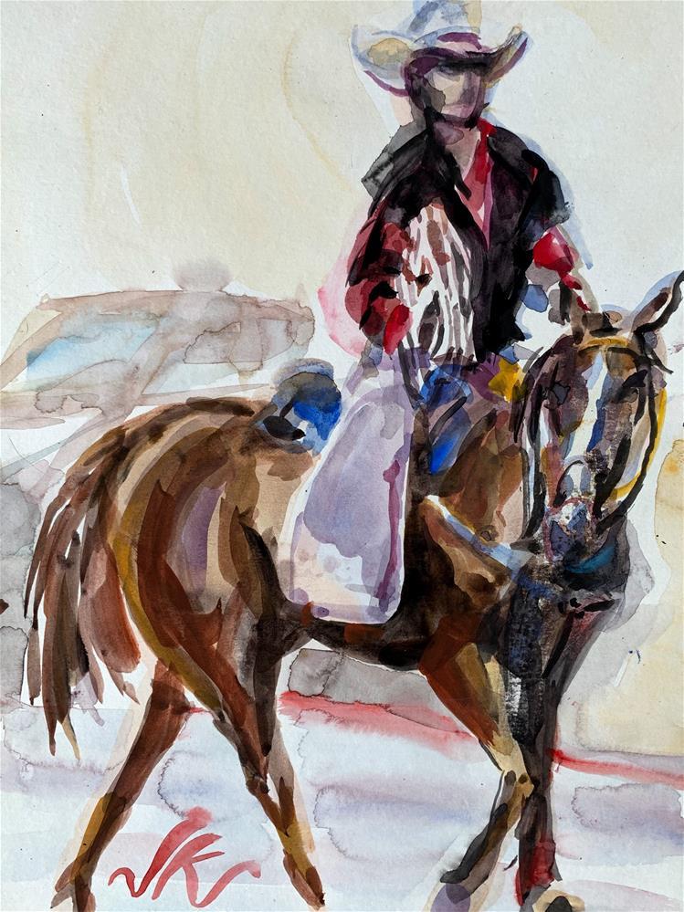 """""""Rangler"""" original fine art by Jean Krueger"""