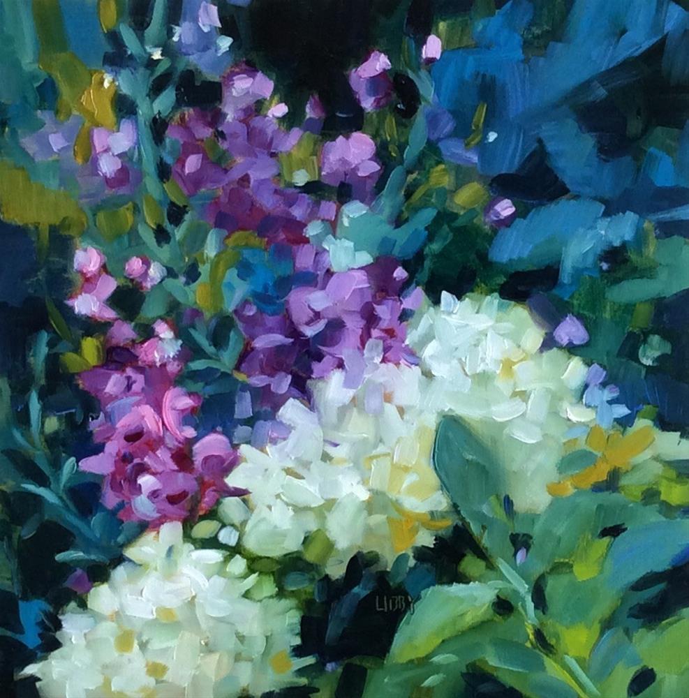 """Magical Garden"" original fine art by Libby Anderson"