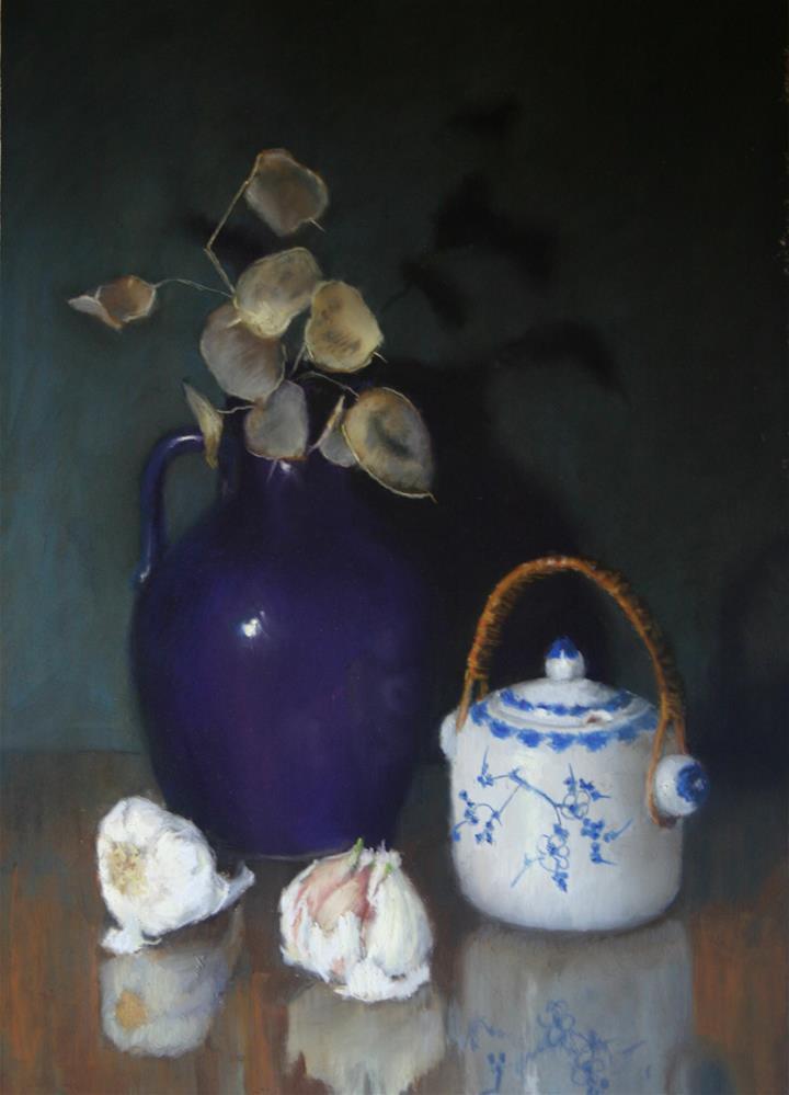 """Chinese pot with garlic"" original fine art by Liz Balkwill"