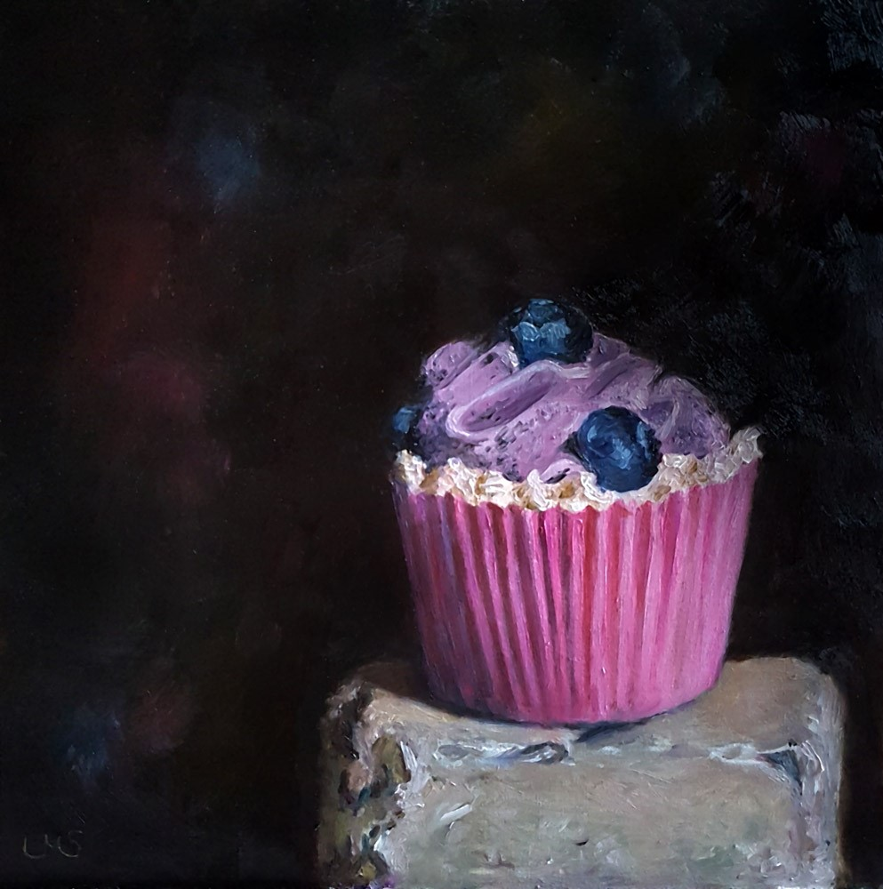 """Blueberry Hill"" original fine art by Ulrike Miesen-Schuermann"