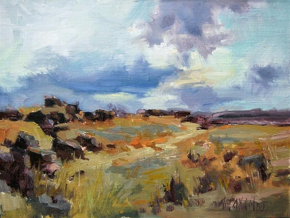 """Desert Ochre"" original fine art by Mary Maxam"