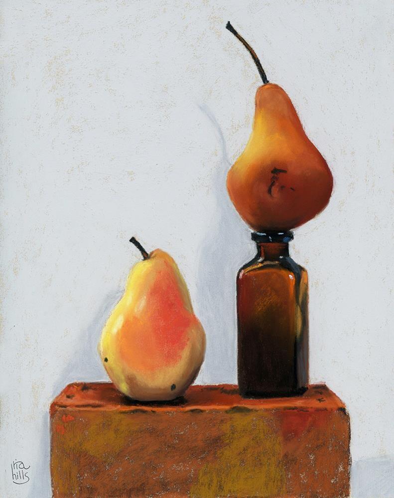 """The Final Portrait Pear Duo"" original fine art by Ria Hills"