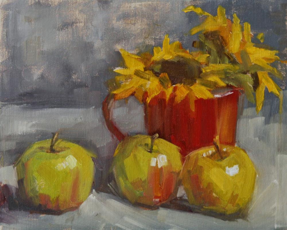 """apple time"" original fine art by Carol Carmichael"