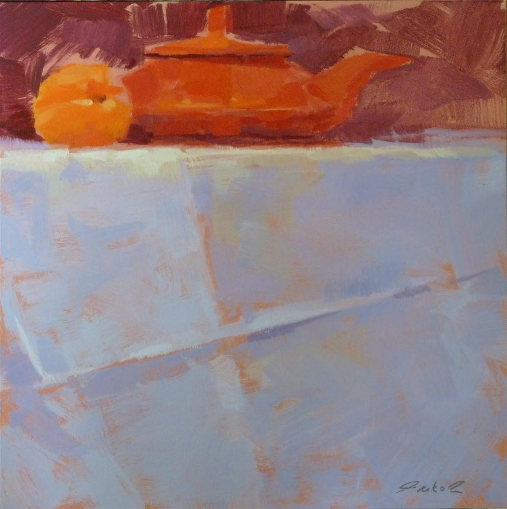 """""""Apricot & Tea Pot"""" original fine art by Ron Ferkol"""