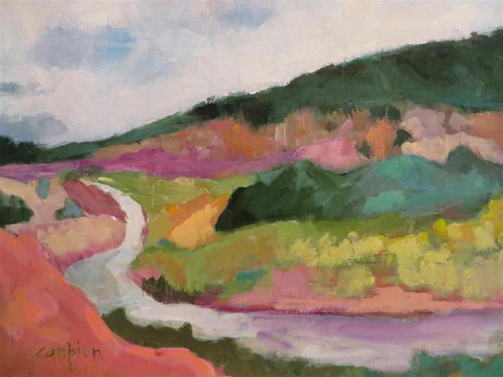 """692 Softer Side of the Chama River"" original fine art by Diane Campion"