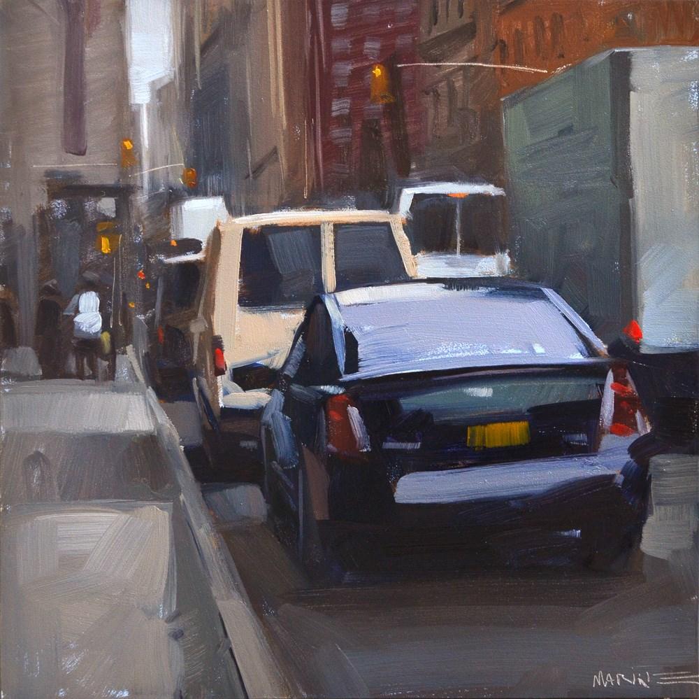 """""""Town Car"""" original fine art by Carol Marine"""