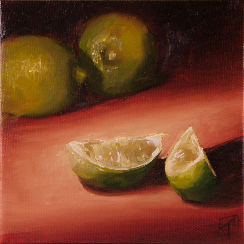 """Limes Study"" original fine art by Lori Twiggs"