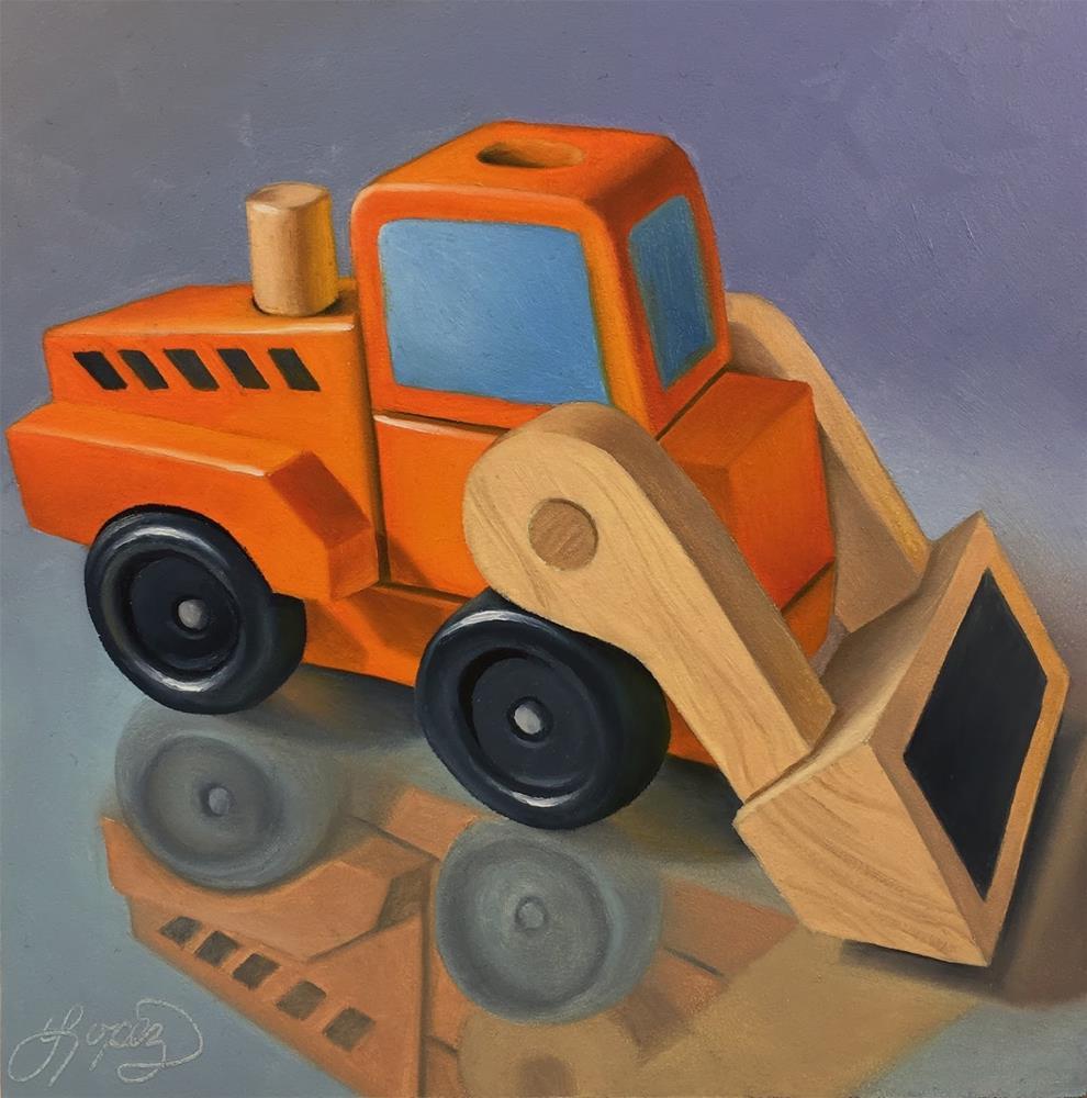 """31. Dig It"" original fine art by Gema Lopez"