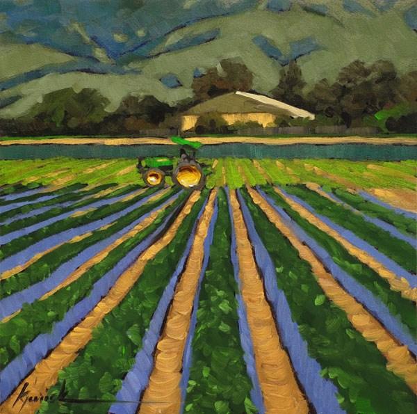 """Pro Tractor"" original fine art by Karin Jurick"