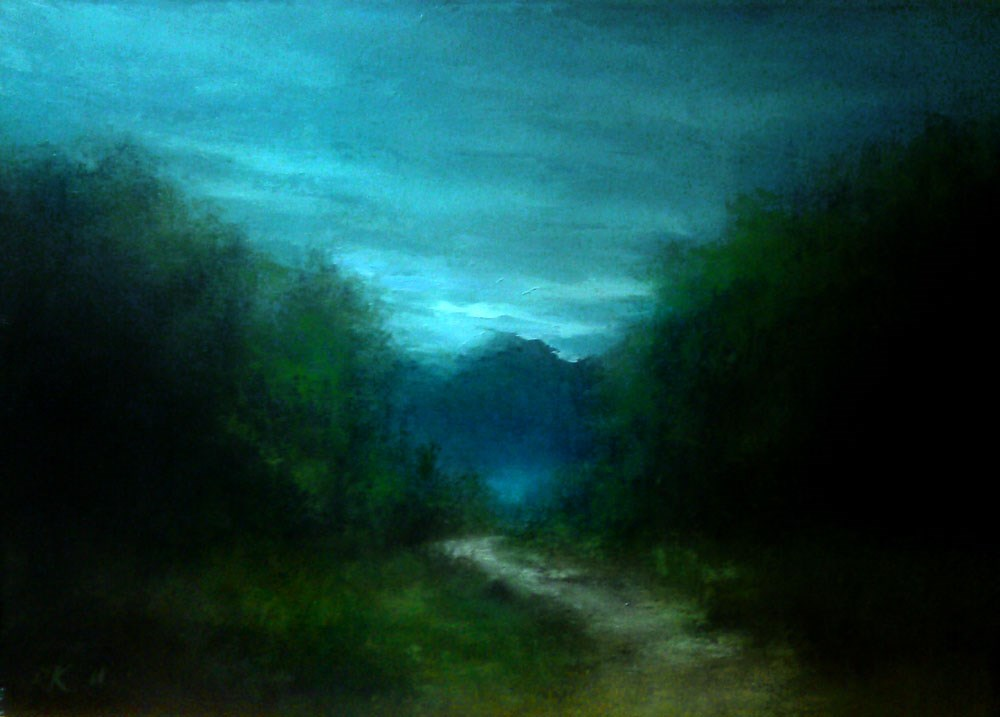 """The Trail"" original fine art by Bob Kimball"