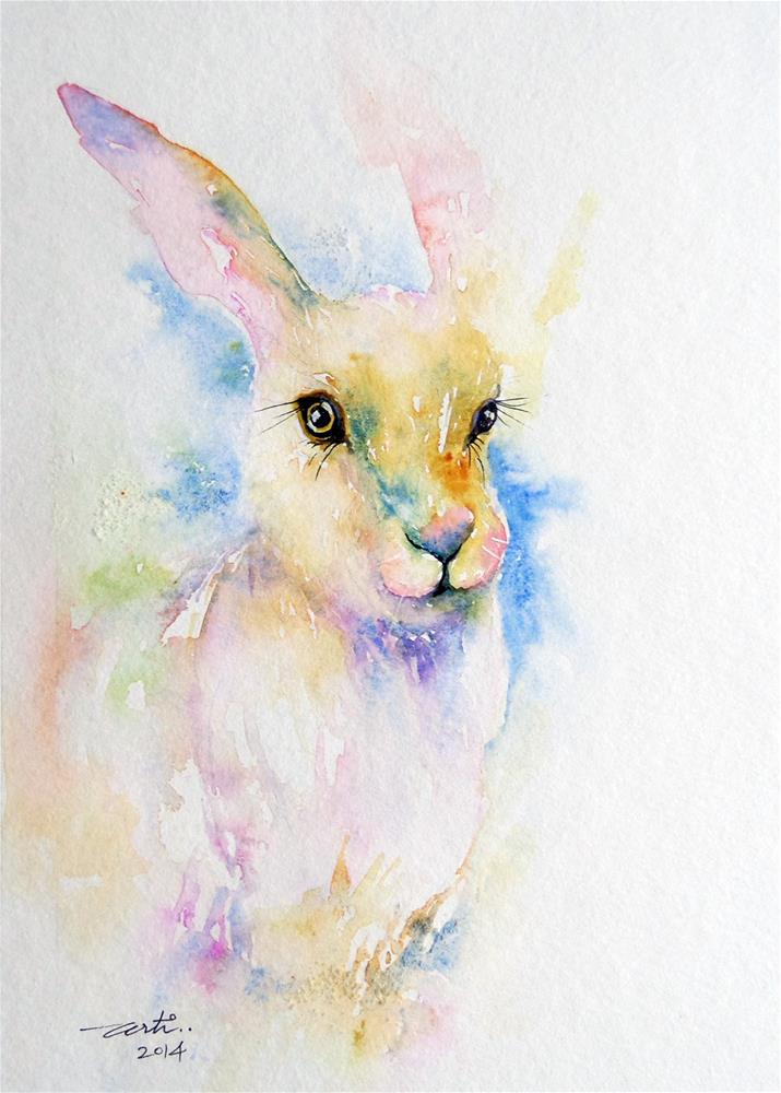 """Purple Hare"" original fine art by Arti Chauhan"