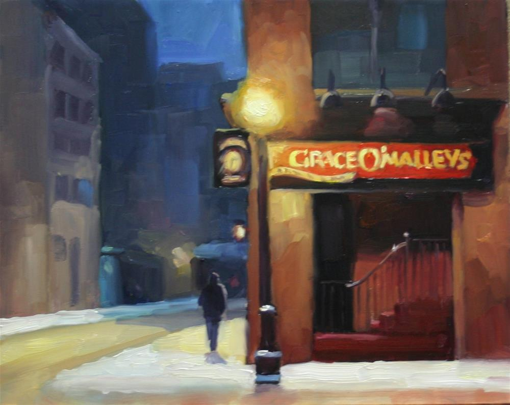 """Grace O'Malleys, Evening Snow"" original fine art by Catherine Jeffrey"