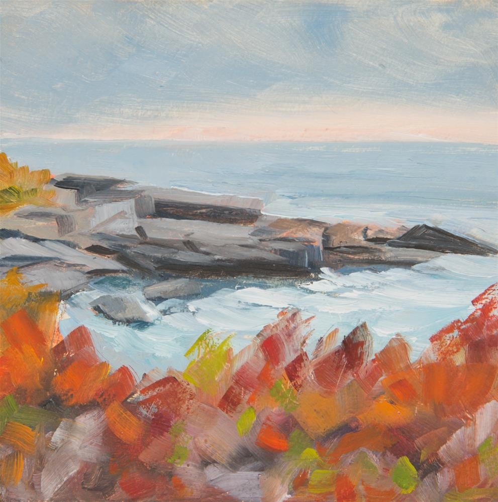 """Lifting Fog - Two Lights State Park, Maine"" original fine art by Sara Gray"