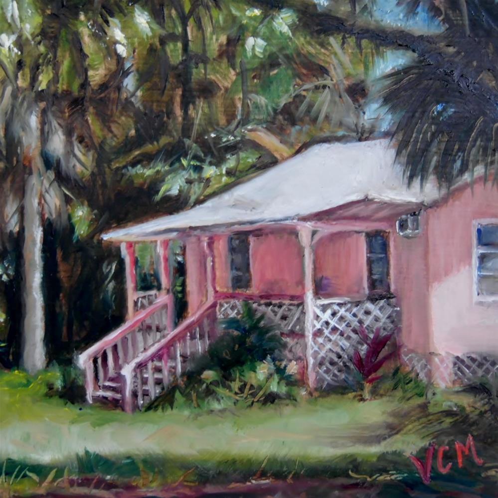 """""""Little Pink House"""" original fine art by Vana Meyers"""