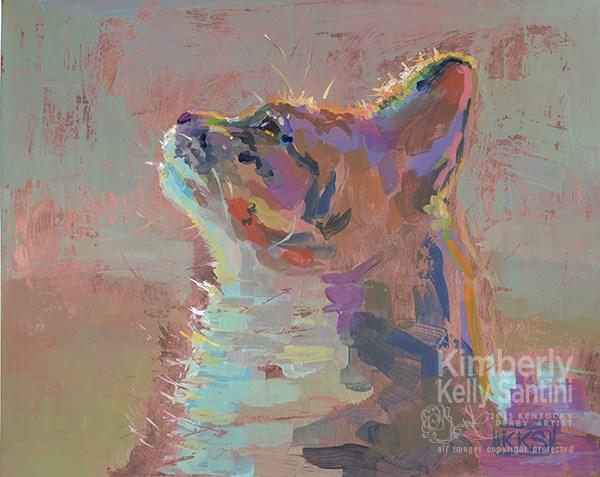 """daVinci"" original fine art by Kimberly Santini"