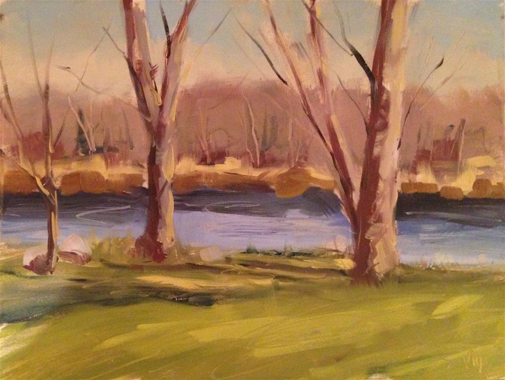 """""""#58 Spring River"""" original fine art by Patty Voje"""