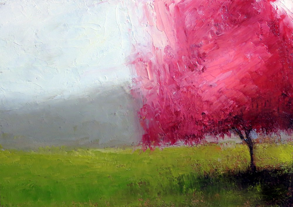 """Red-bud"" original fine art by Bob Kimball"