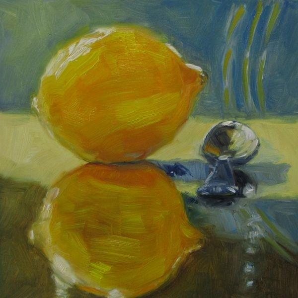 """Lemon Meets Spoon"" original fine art by Mb Warner"