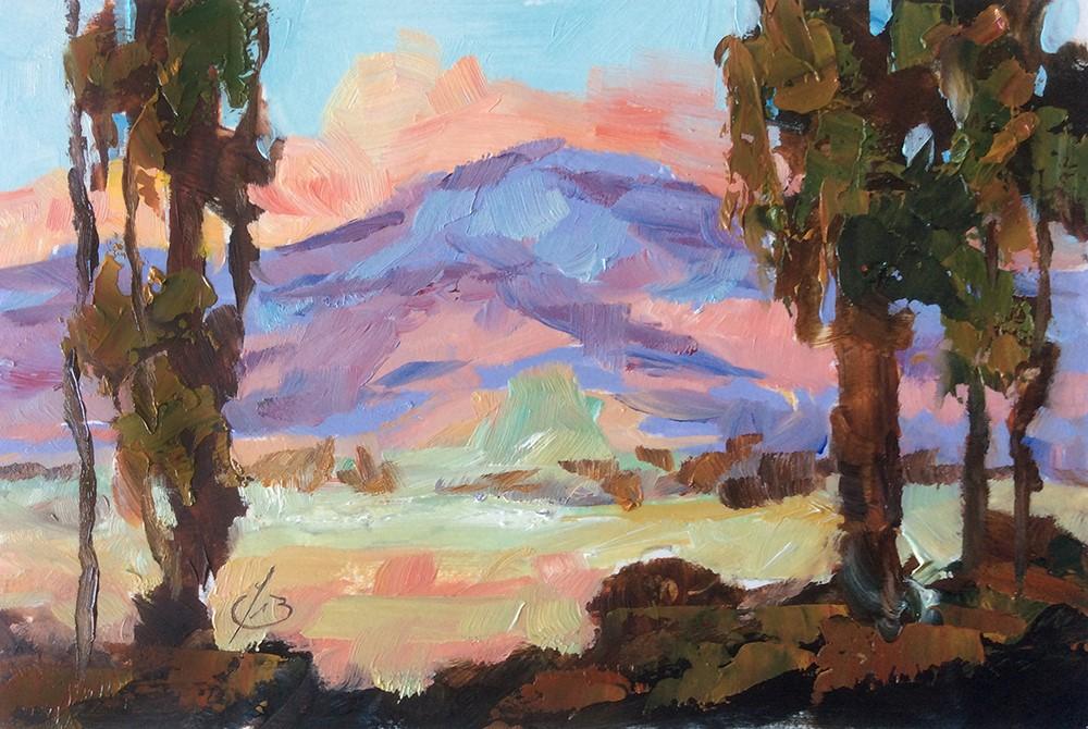 """CALIFORNIA SCENIC"" original fine art by Tom Brown"