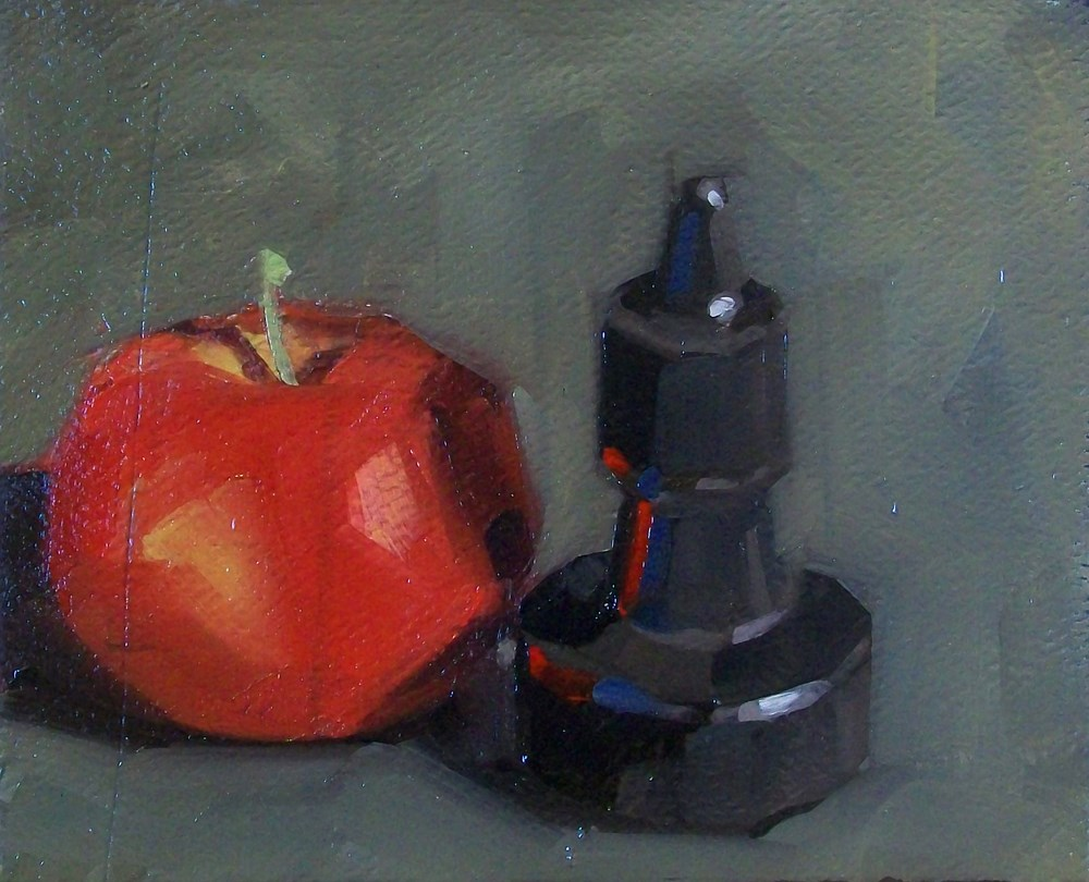 """Apple and ink"" original fine art by Brandi Bowman"