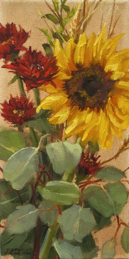 """""""Sunflower"""" original fine art by Karen Werner"""
