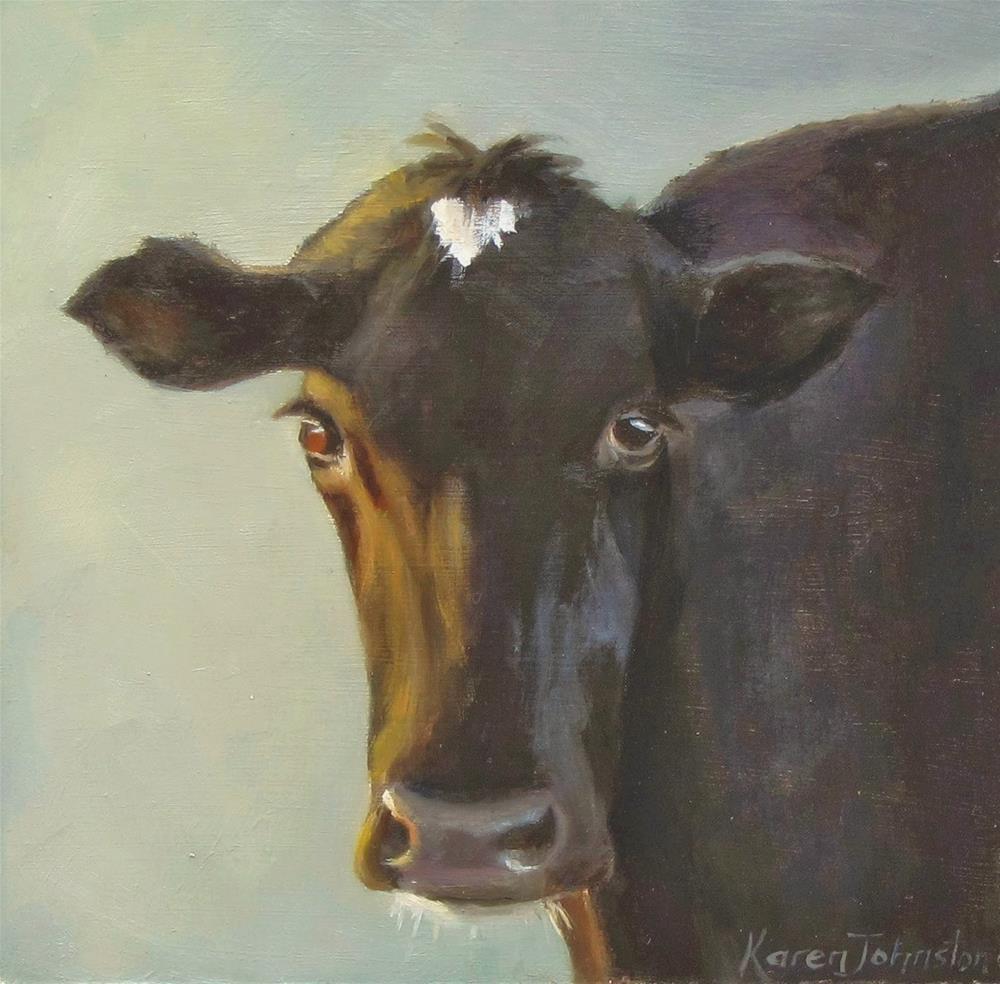 """""""No Bull"""" original fine art by Karen Johnston"""