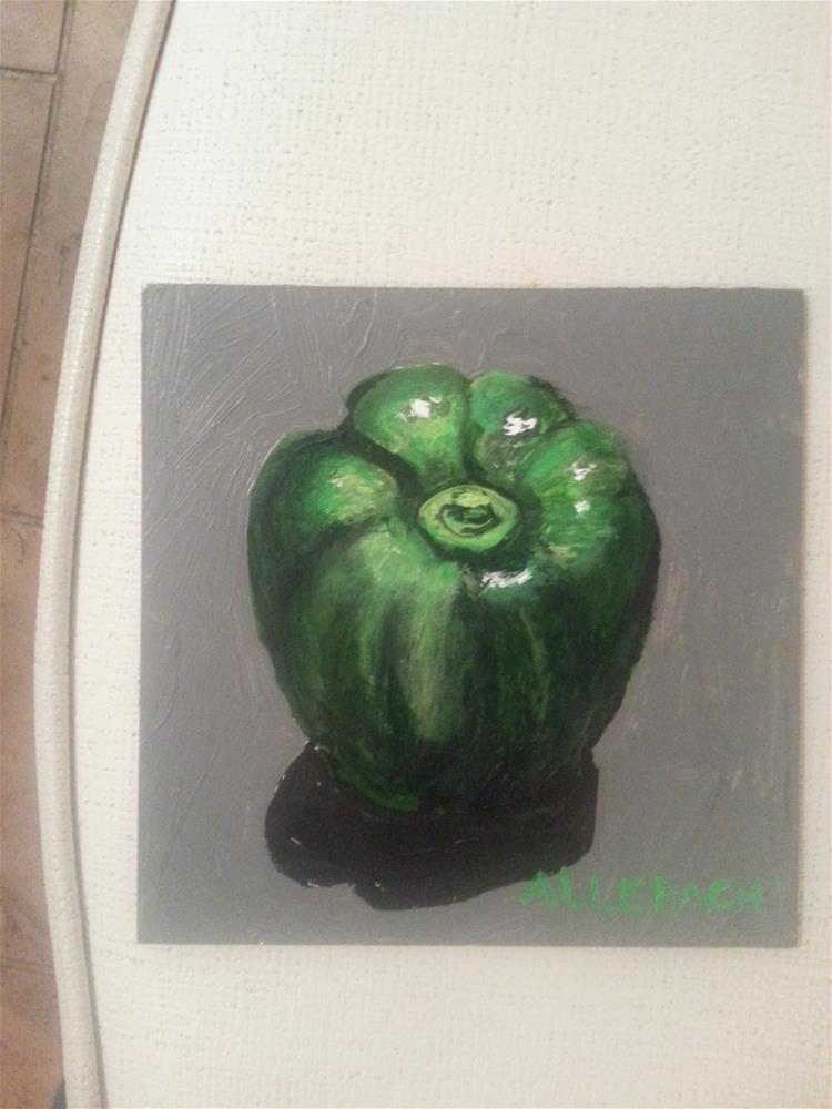 """Green Pepper"" original fine art by Jo Allebach"