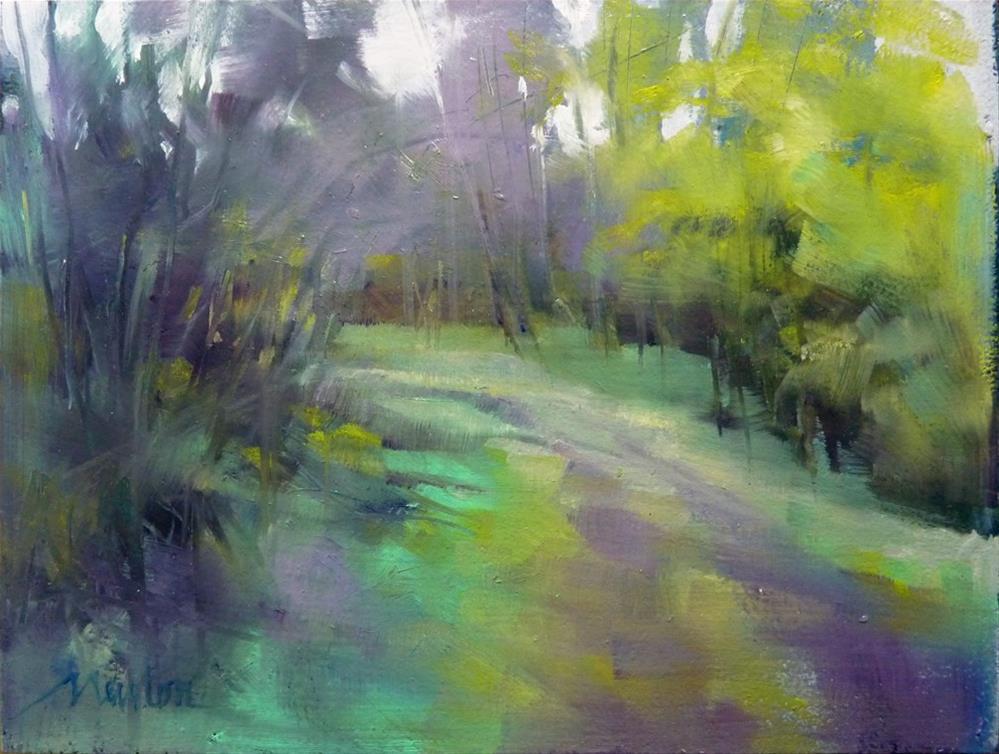 """Color Study, Follow Your Heart"" original fine art by Barbara Benedetti Newton"