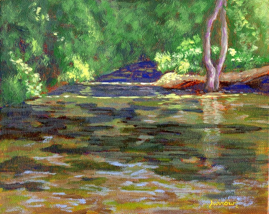 """Plein Aire Waterside"" original fine art by Sue Furrow"