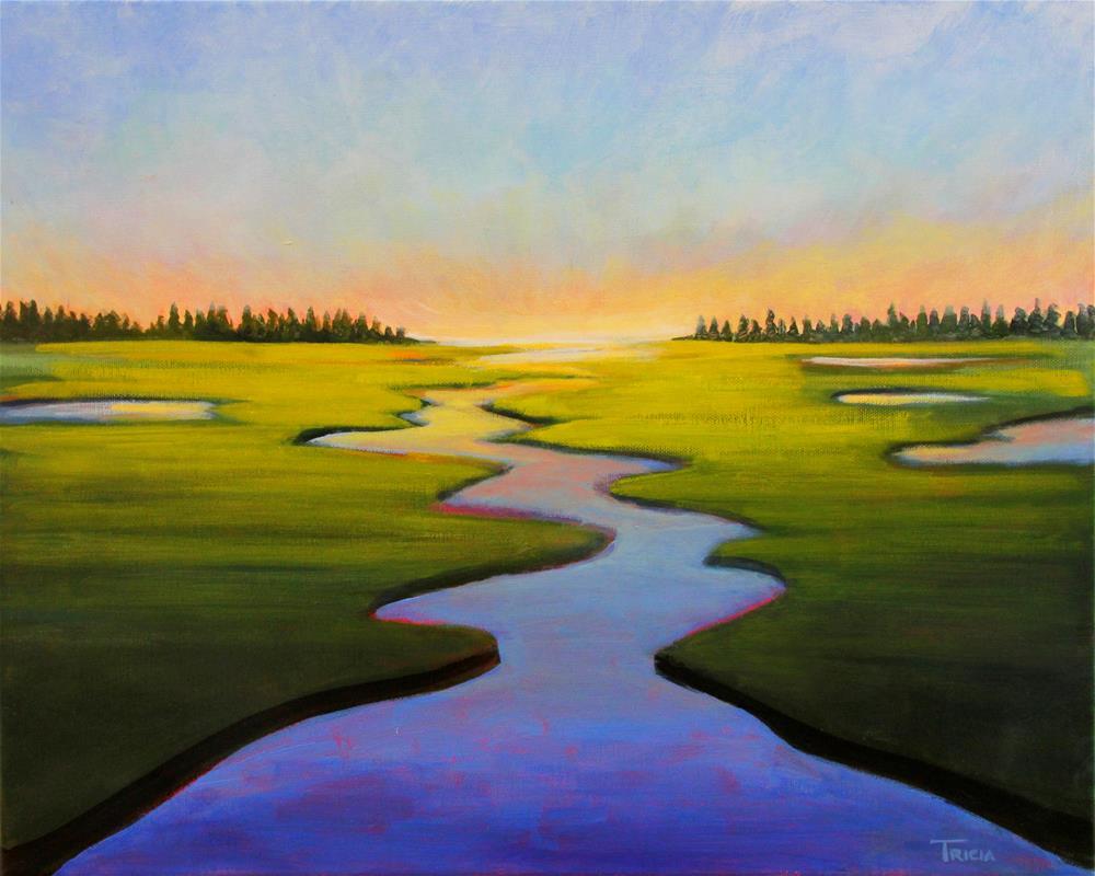 """Marsh Sunset"" original fine art by Tricia Granzier"
