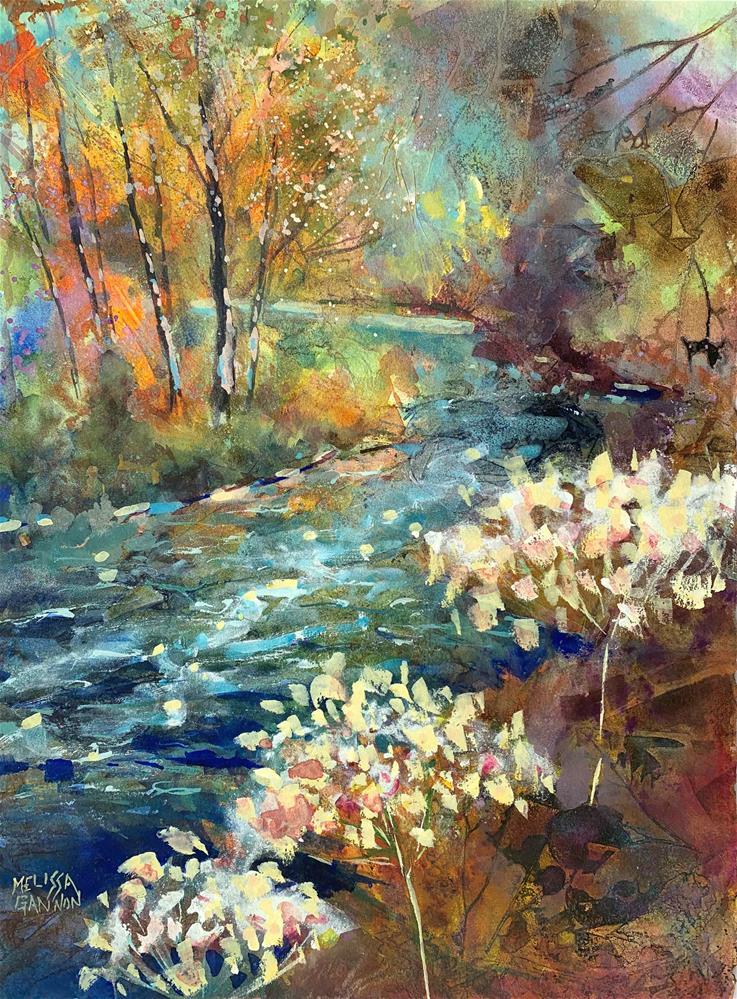 """""""Lace Along the River"""" original fine art by Melissa Gannon"""