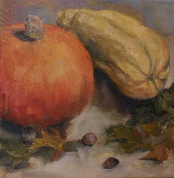 """""""Fall Study"""" original fine art by Lori L. Lamb"""