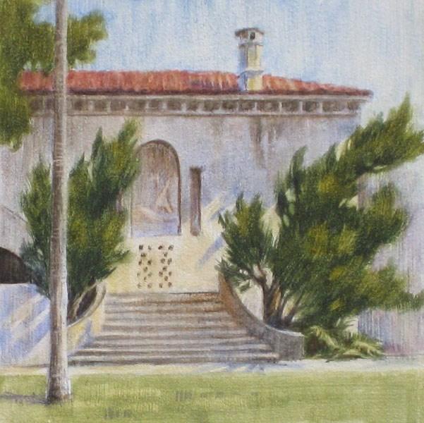 """Old City Hall, Morning"" original fine art by Ginger Pena"