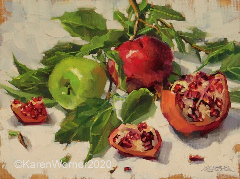 """""""Autumn Pieces"""" original fine art by Karen Werner"""