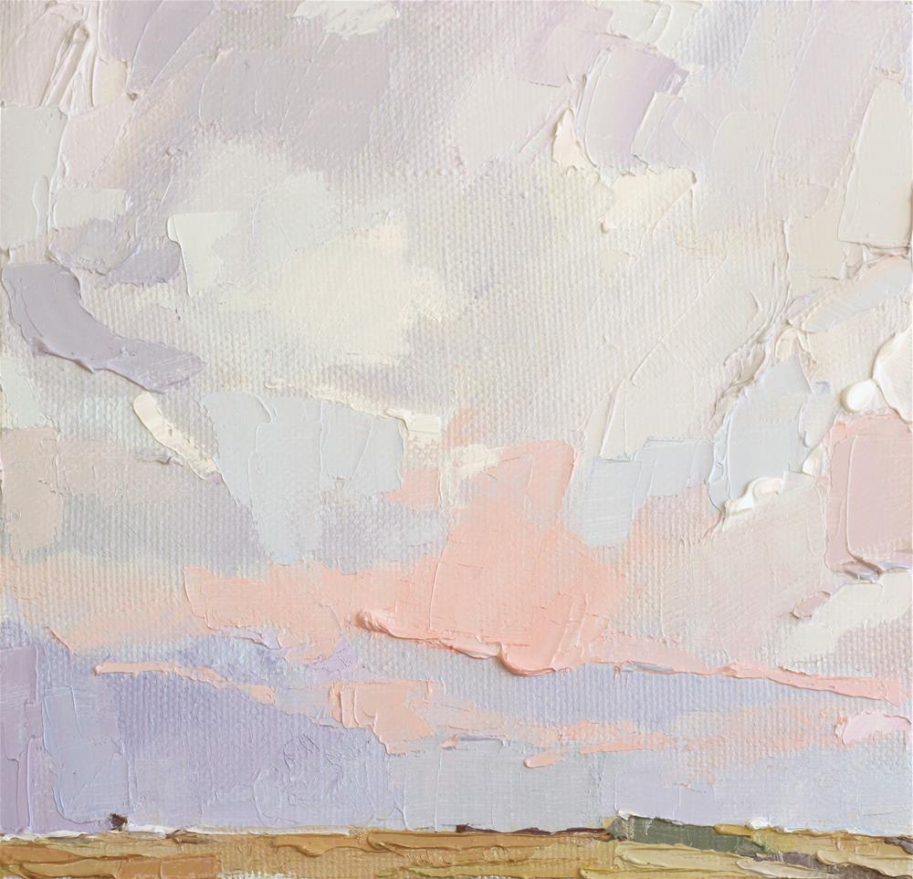 """Somewhere it was a warm rain"" original fine art by Yuliia Meniailova"