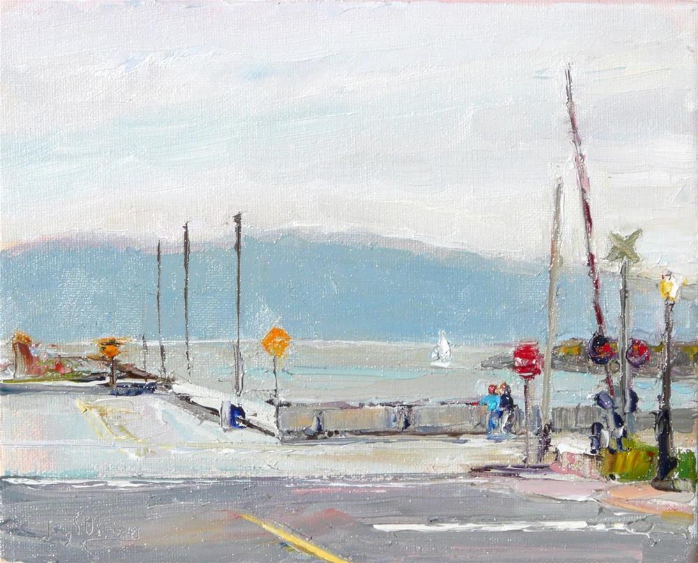 """Morning on Holly & Central Street,landscape,oil on canvas,8x10,price$275"" original fine art by Joy Olney"