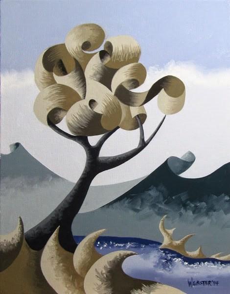 """Mark Adam Webster - Abstract Geometric Landscape Oil Painting 9.24.14"" original fine art by Mark Webster"