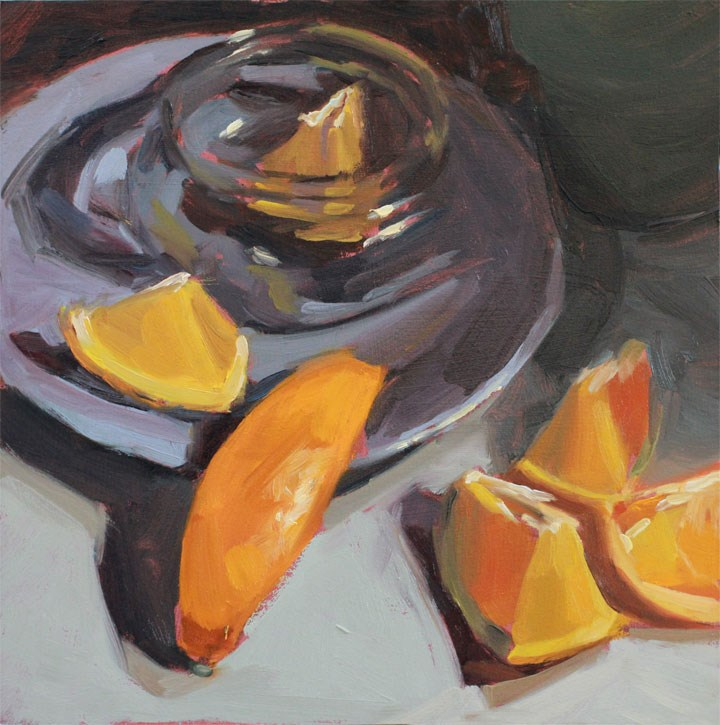 """""""Five Slices and a Peel"""" original fine art by Nealy May Riley"""