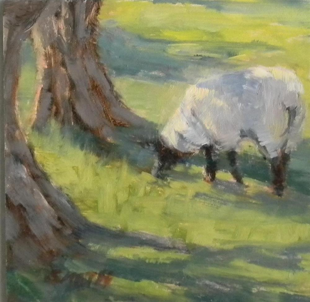 """""""Grazing in the Shade"""" original fine art by Barbie Smith"""