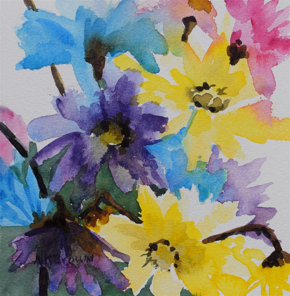 """Second Hand Flowers"" original fine art by Nancy Brown"