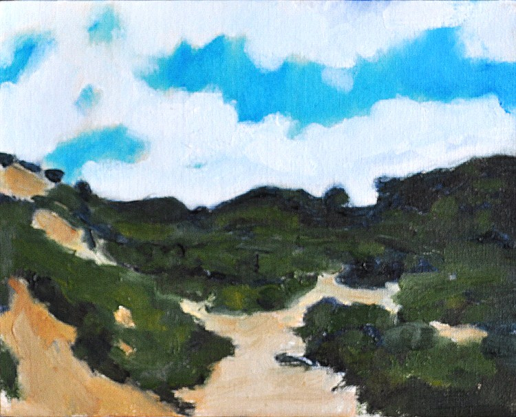 """May Day at Torrey Pines"" original fine art by Kevin Inman"