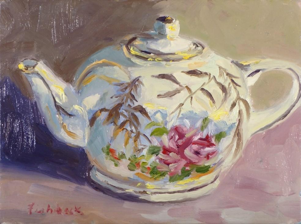 """Musical Teapot"" original fine art by Daniel Fishback"