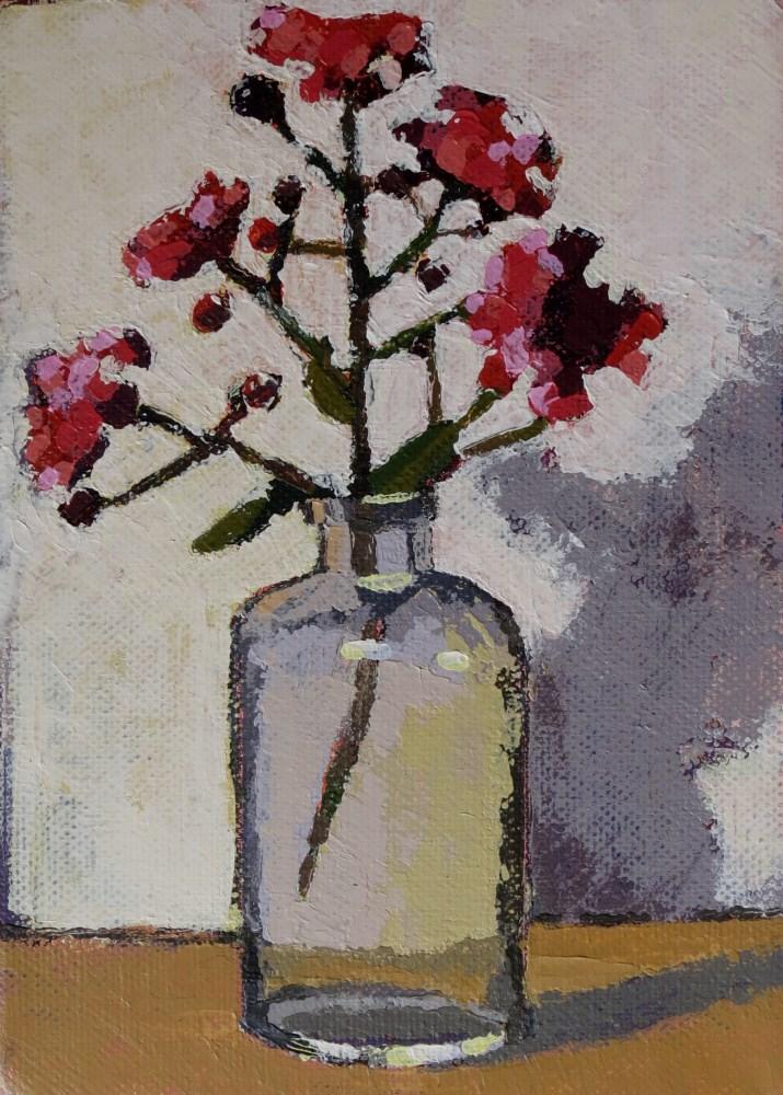 """""""Crepe Myrtle"""" original fine art by Joan Wiberg"""