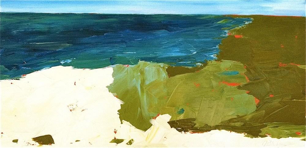 """""""The Coast"""" original fine art by Janet Bludau"""
