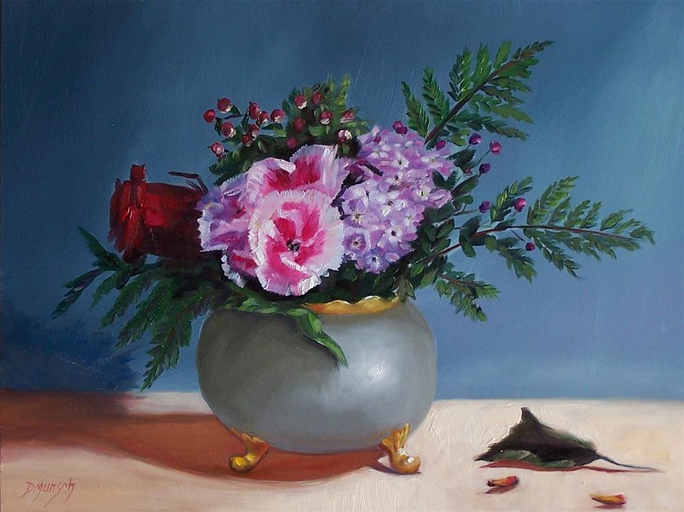 """""""Small Bouquet of Flowers"""" original fine art by Donna Munsch"""